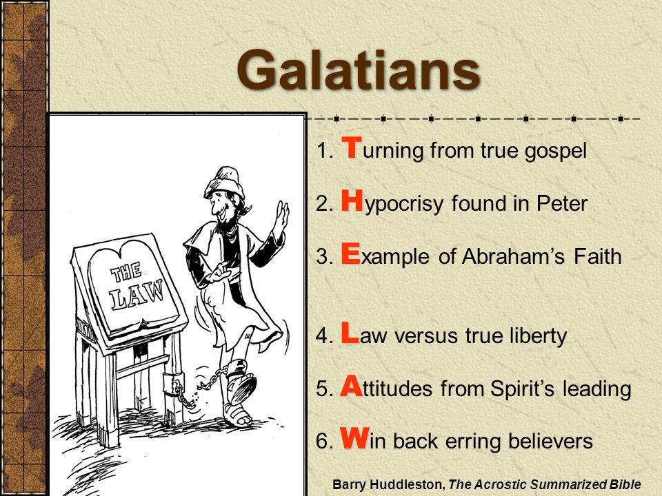 Galatians 1. Turning from true gospel 2. Hypocrisy found in Peter