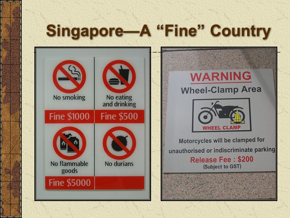 Singapore—A Fine Country