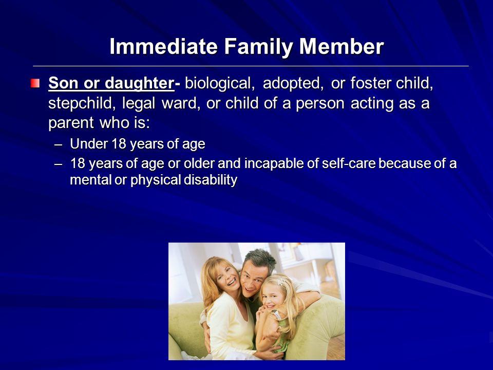 Immediate Family Member