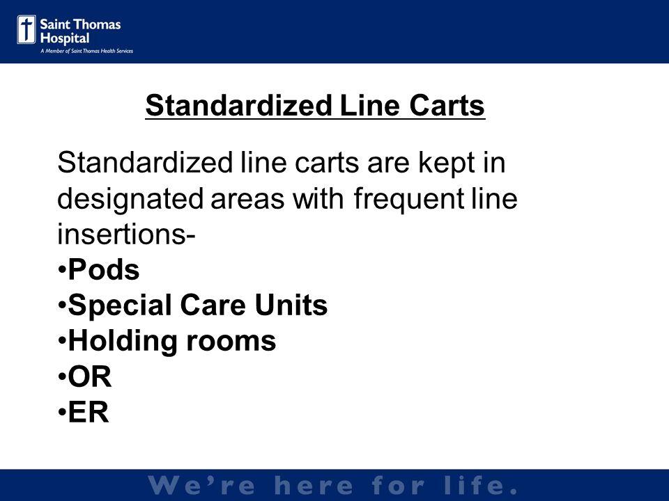 Standardized Line Carts