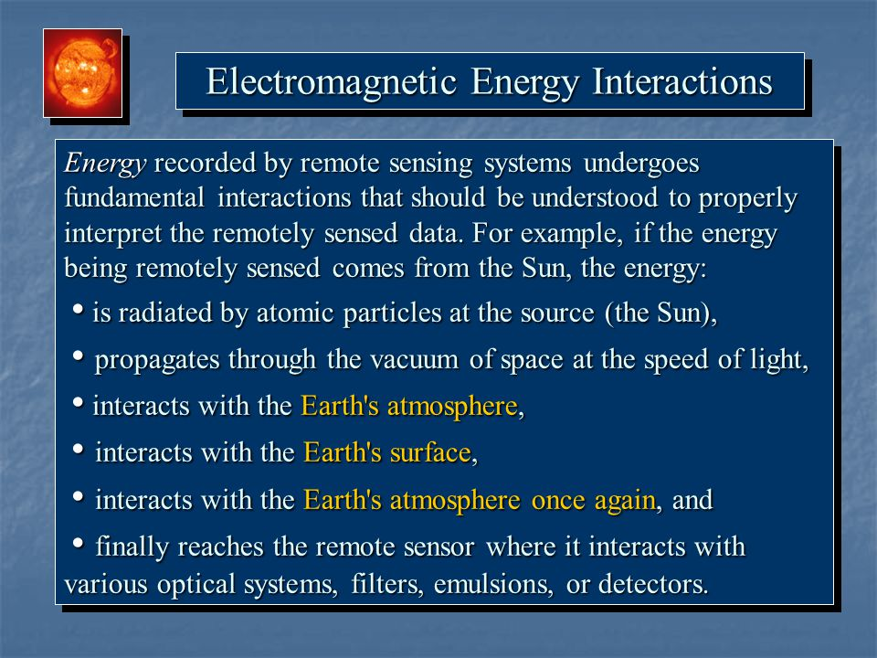 Electromagnetic Energy Interactions