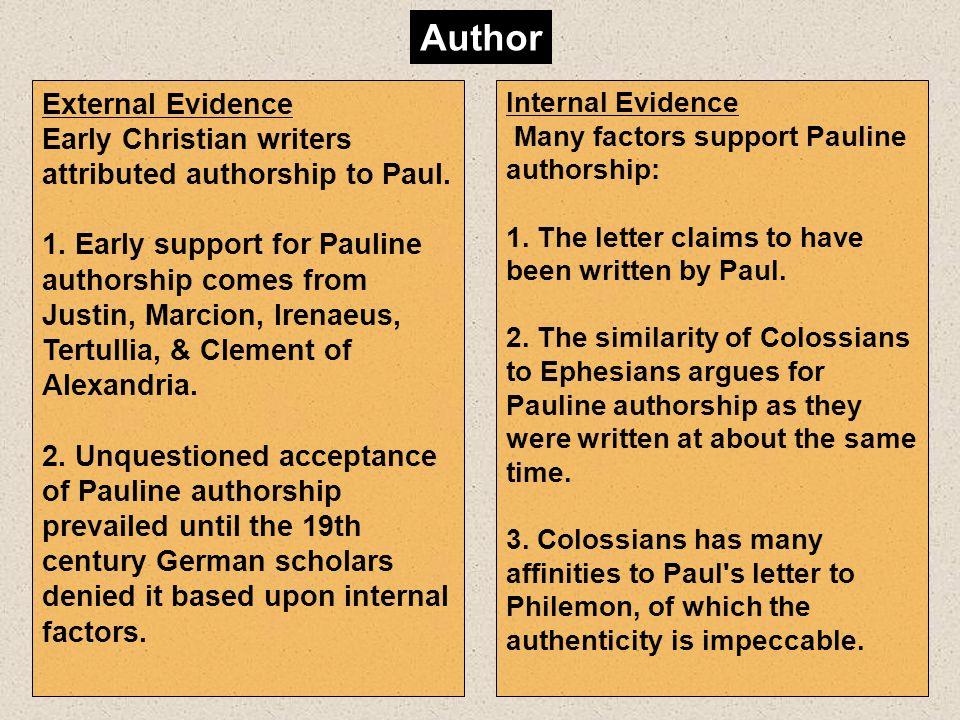 Author External Evidence