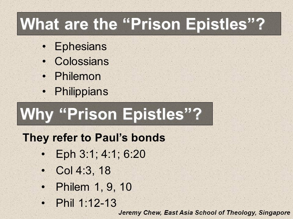 What are the Prison Epistles