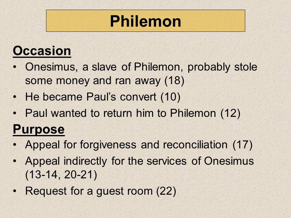 Philemon Occasion Purpose