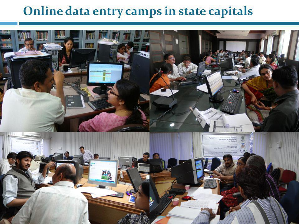 Online data entry camps in state capitals