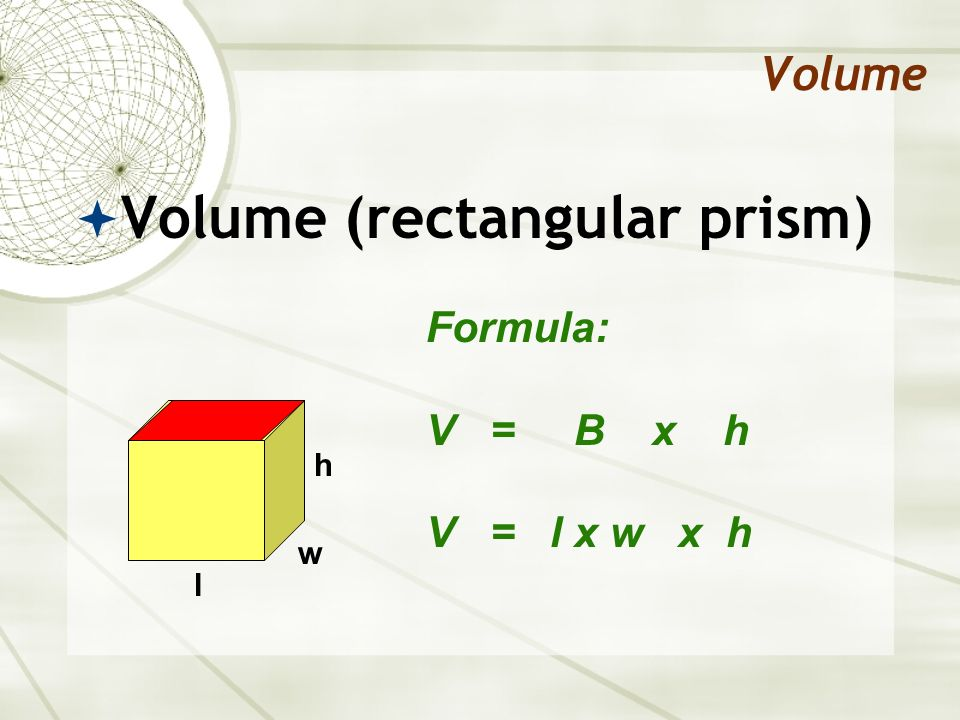 Volume (rectangular prism)