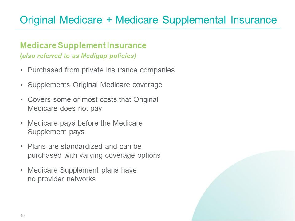 Original Medicare + Medicare Supplemental Insurance