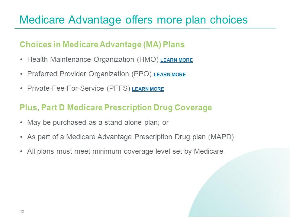 Medicare Advantage offers more plan choices