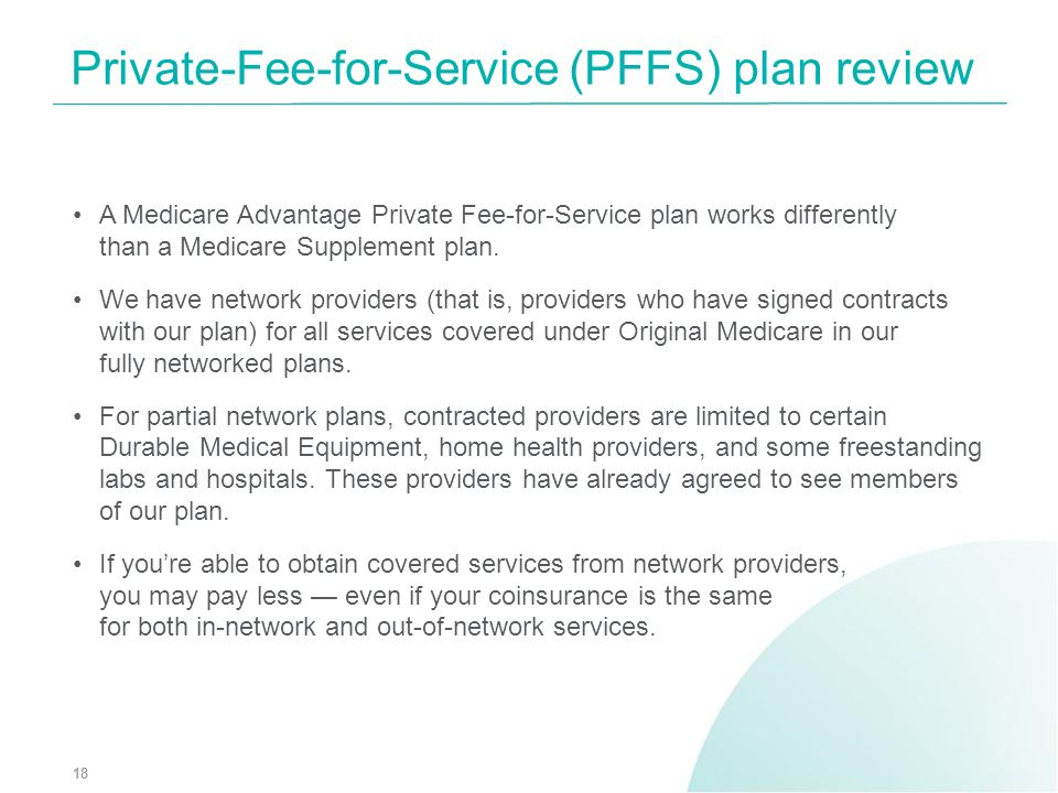 Private-Fee-for-Service (PFFS) plan review