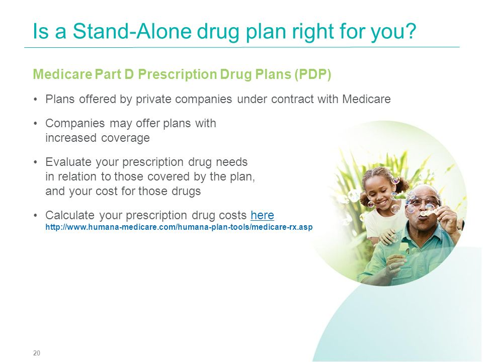 Is a Stand-Alone drug plan right for you