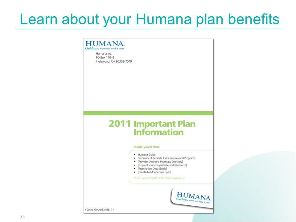 Learn about your Humana plan benefits