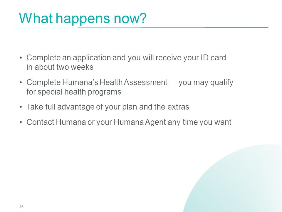 What happens now Complete an application and you will receive your ID card in about two weeks.
