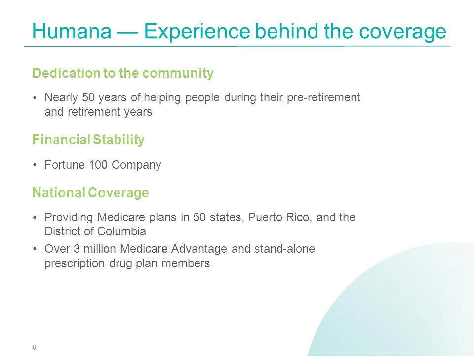 Humana — Experience behind the coverage