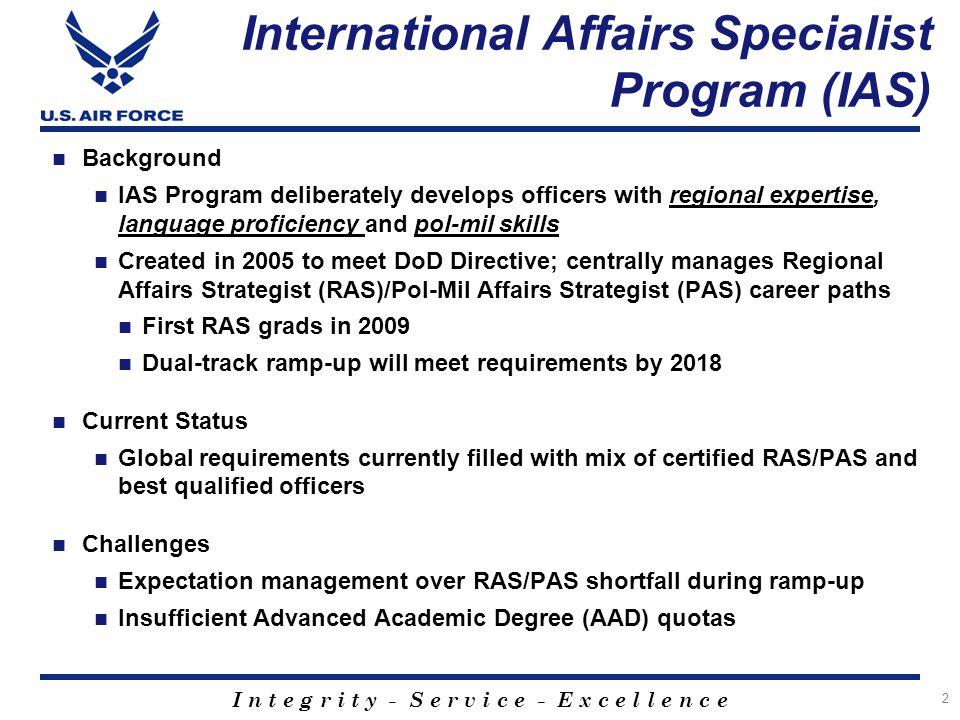 International Affairs Specialist Program (IAS)
