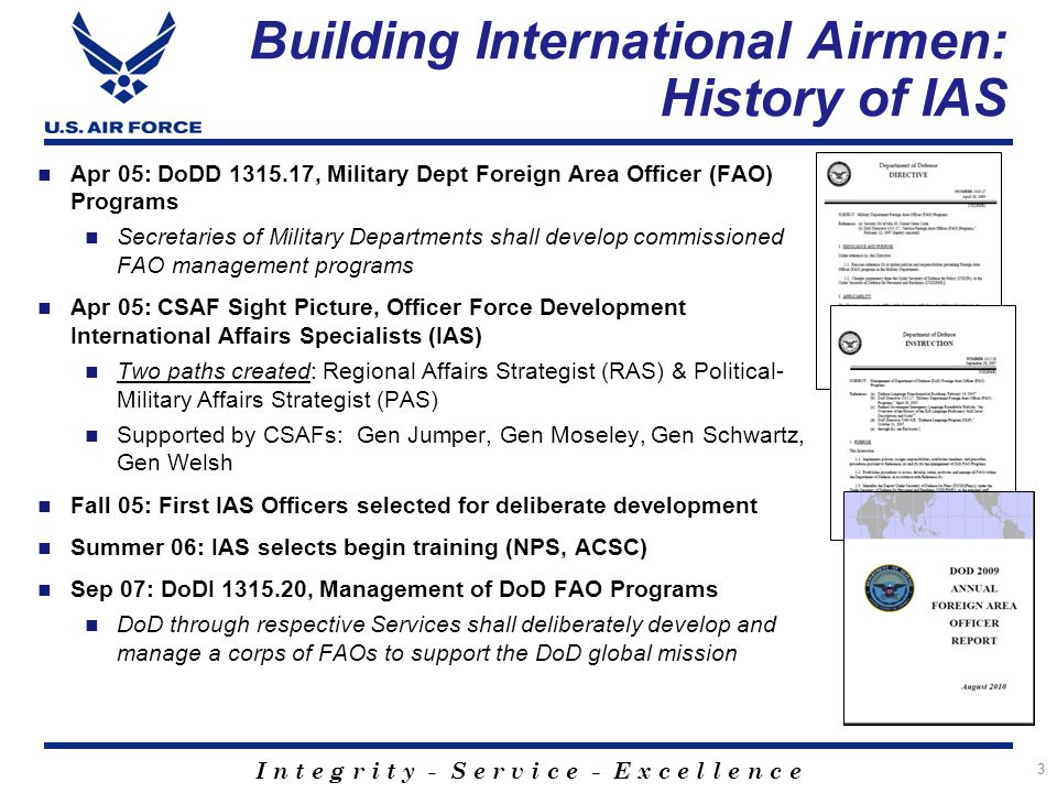 Building International Airmen: History of IAS