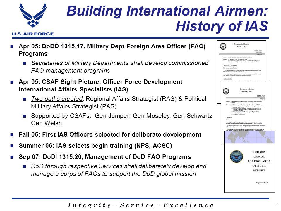 Building International Airmen: History of IAS