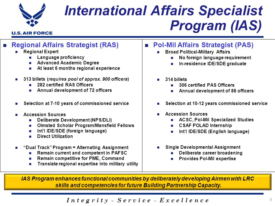 International Affairs Specialist Program (IAS)