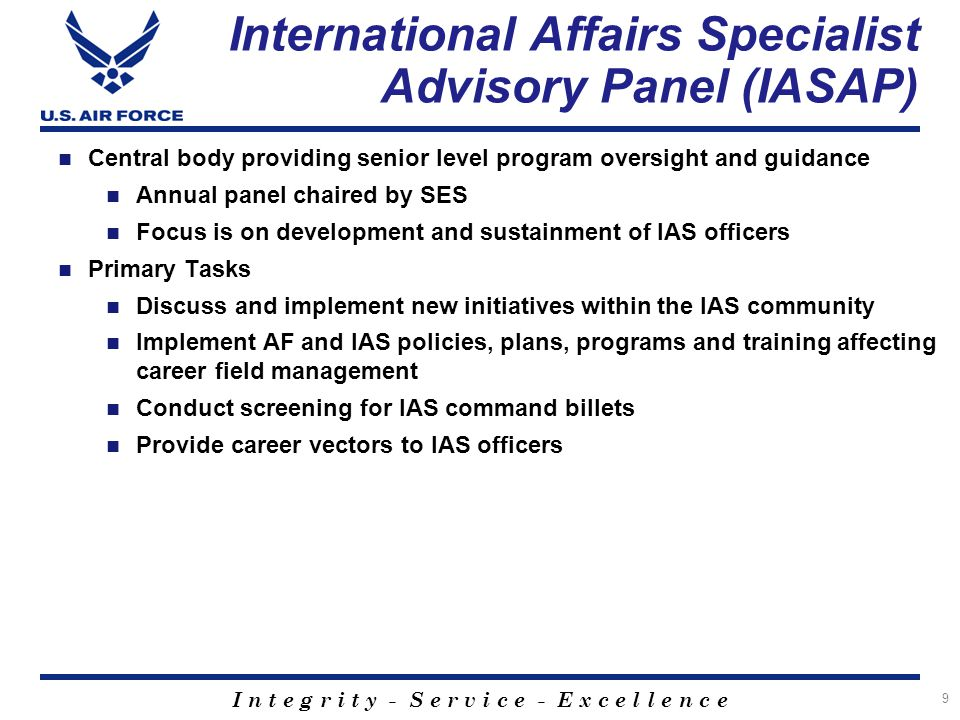 International Affairs Specialist Advisory Panel (IASAP)
