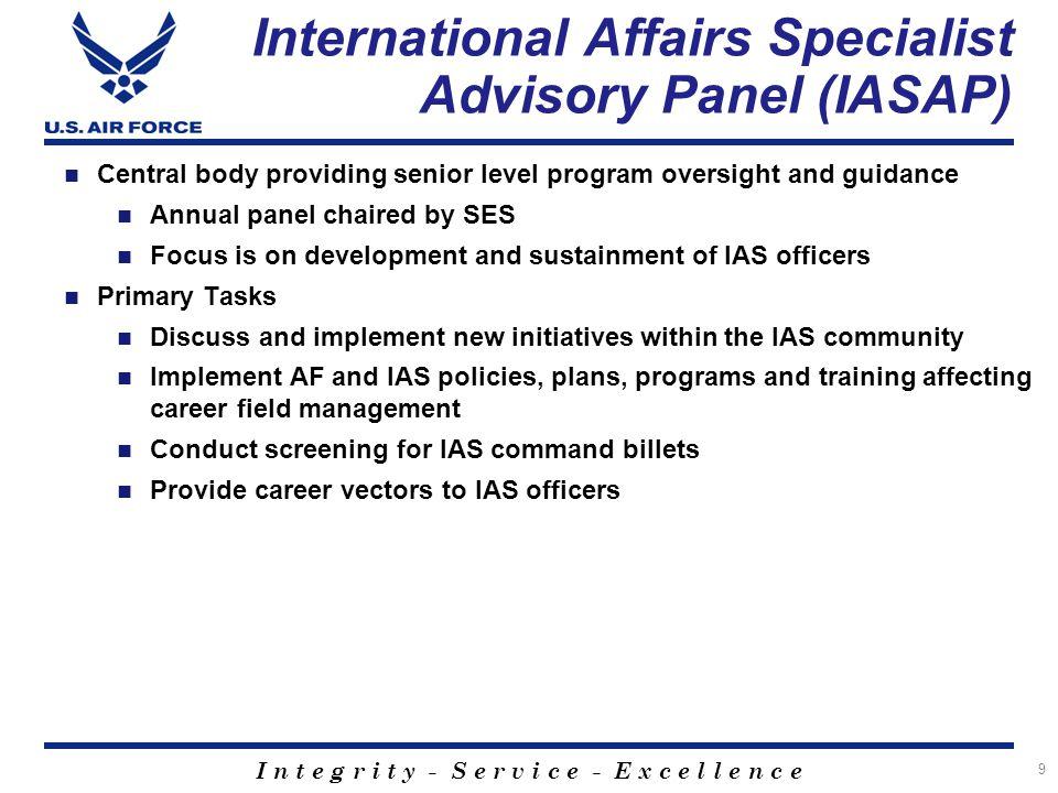 International Affairs Specialist Advisory Panel (IASAP)