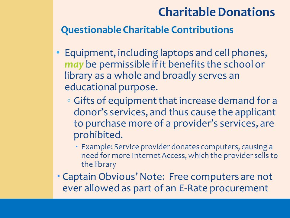 Charitable Donations Questionable Charitable Contributions