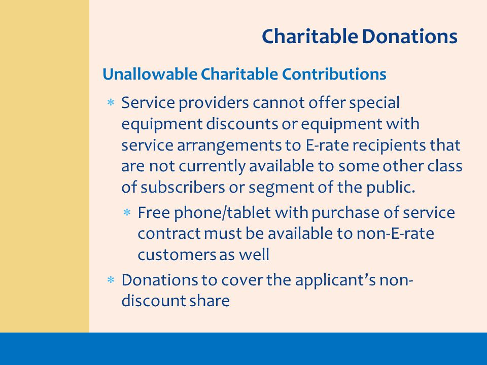 Charitable Donations Unallowable Charitable Contributions