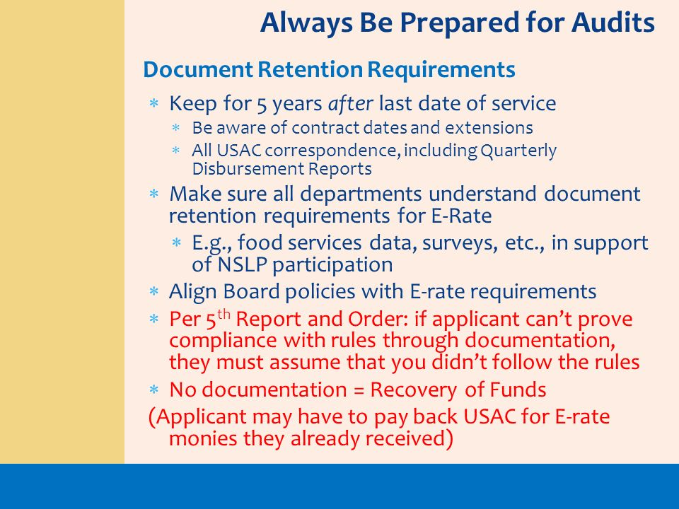 Always Be Prepared for Audits