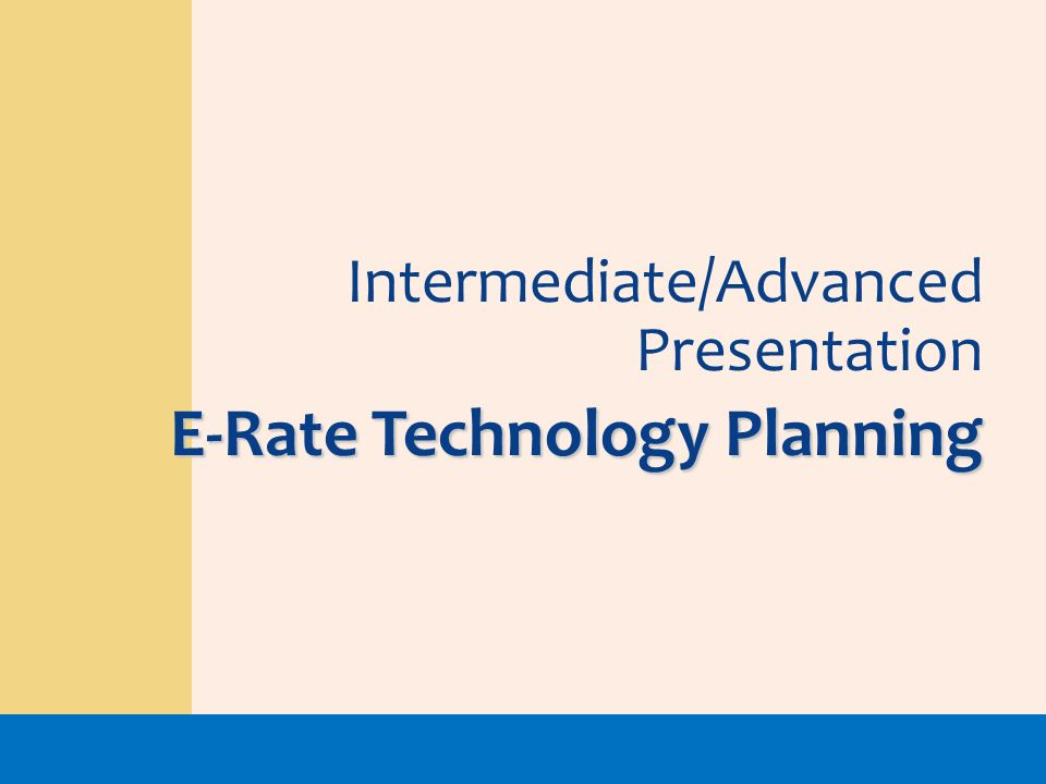 E-Rate Technology Planning