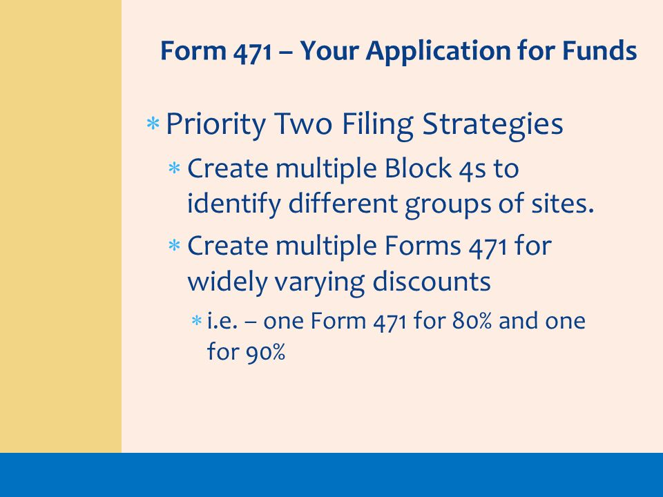 Priority Two Filing Strategies