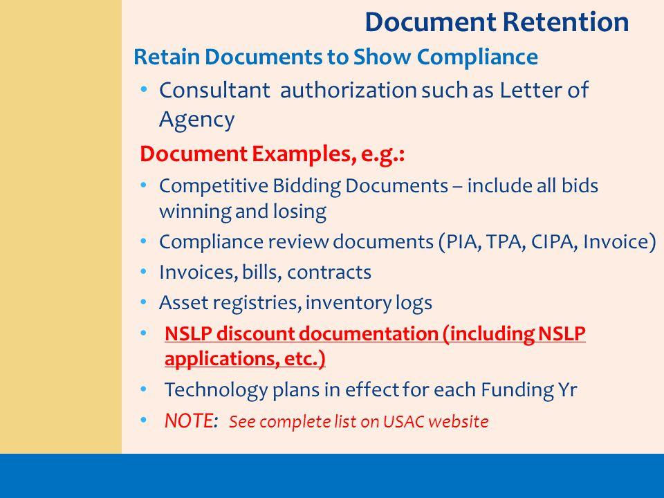 Document Retention Retain Documents to Show Compliance