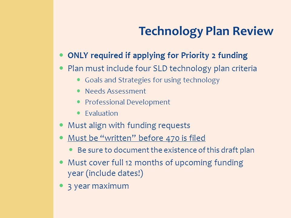 Technology Plan Review