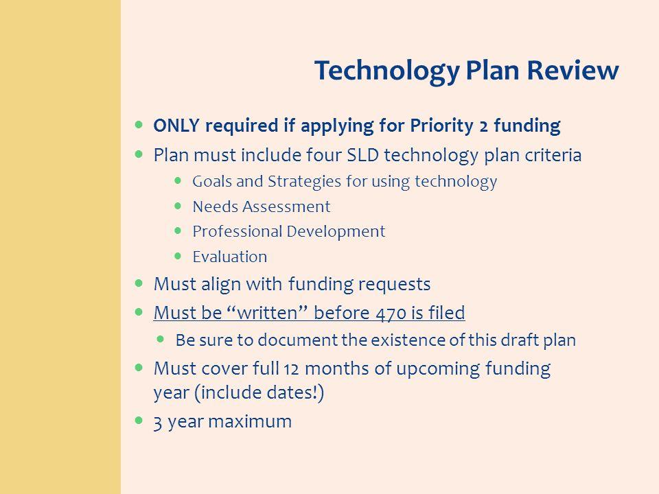 Technology Plan Review