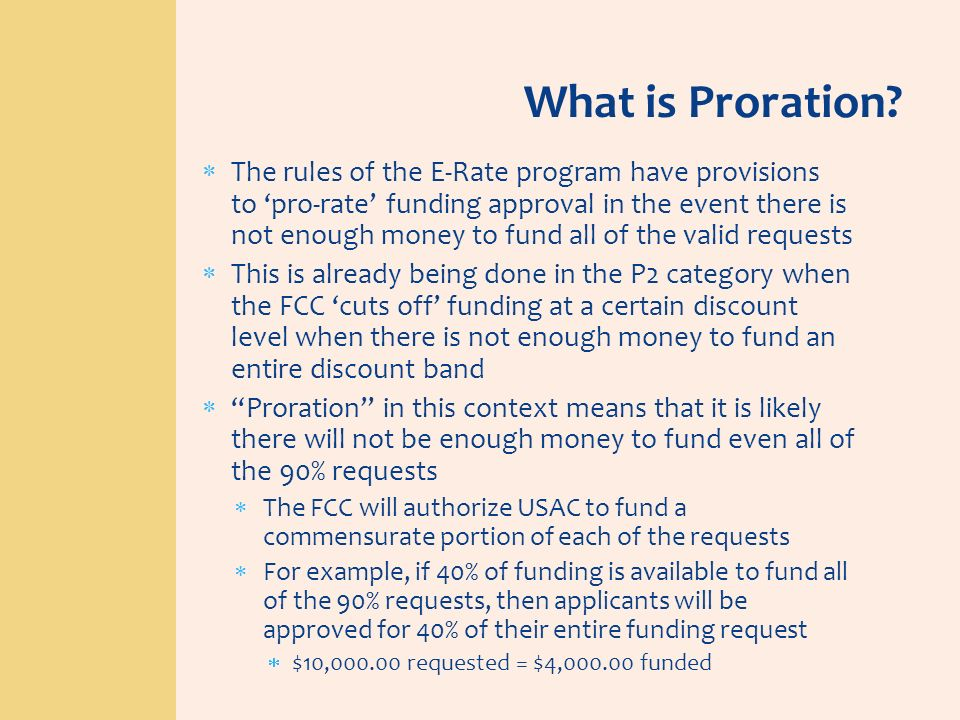 What is Proration