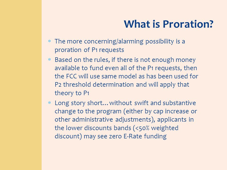 What is Proration The more concerning/alarming possibility is a proration of P1 requests.