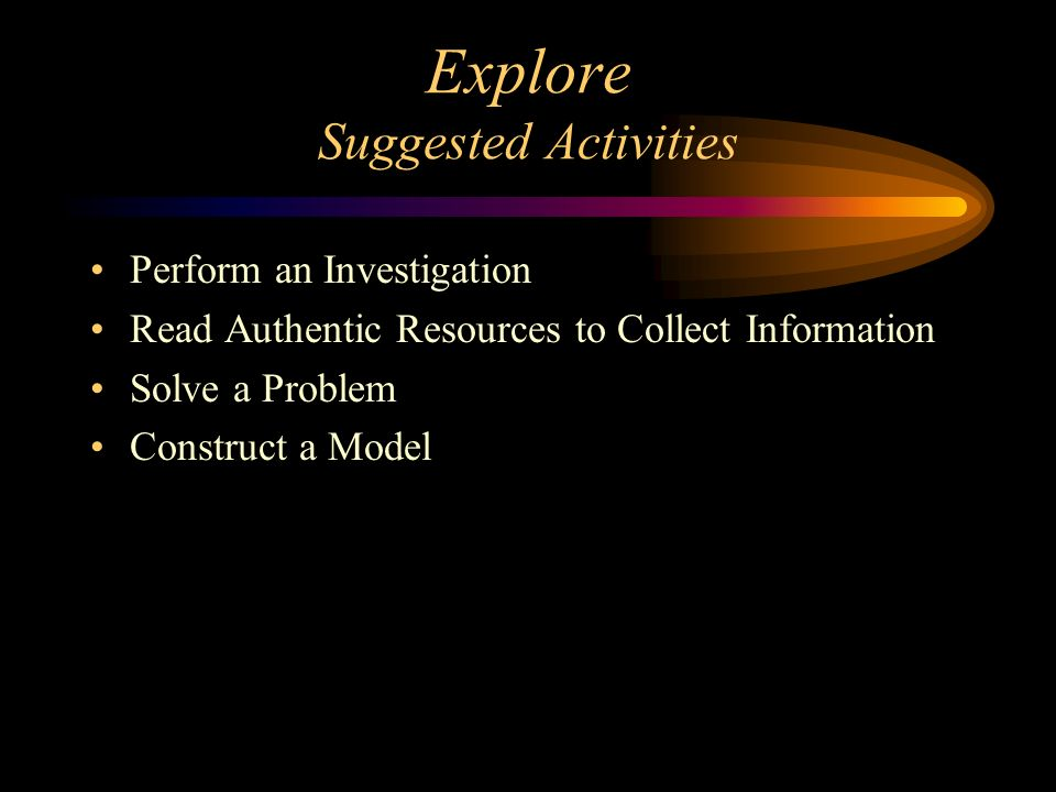Explore Suggested Activities