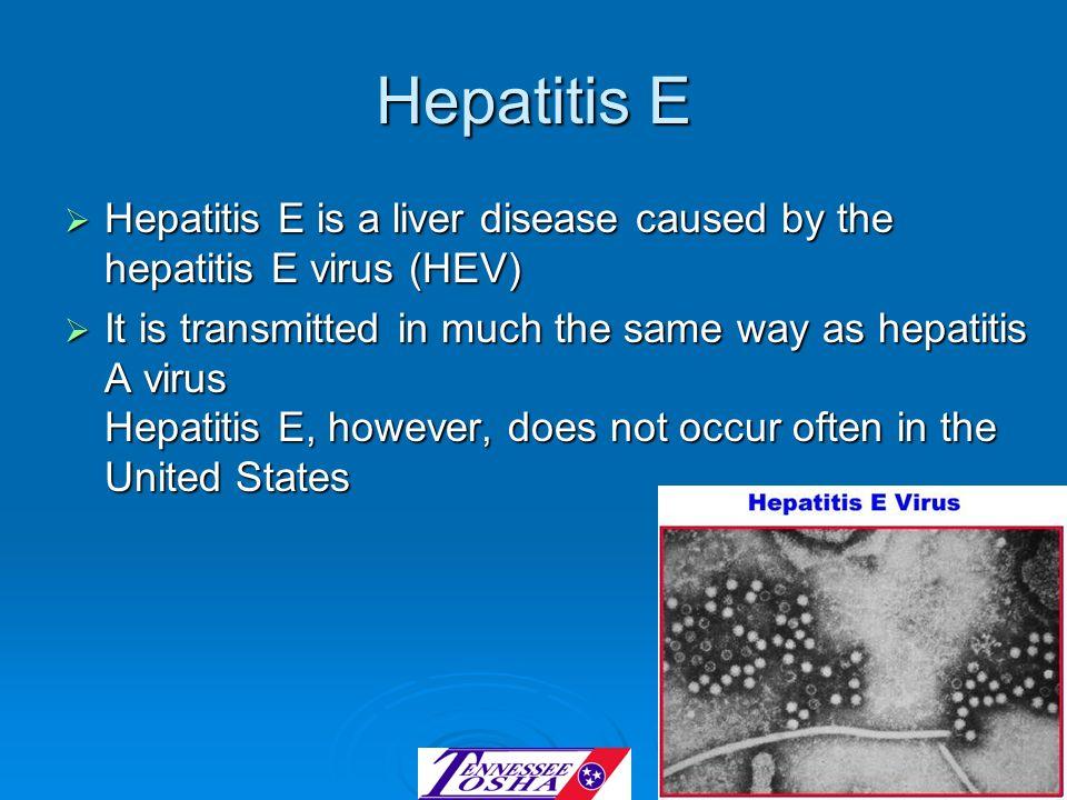Hepatitis EHepatitis E is a liver disease caused by the hepatitis E virus (HEV)