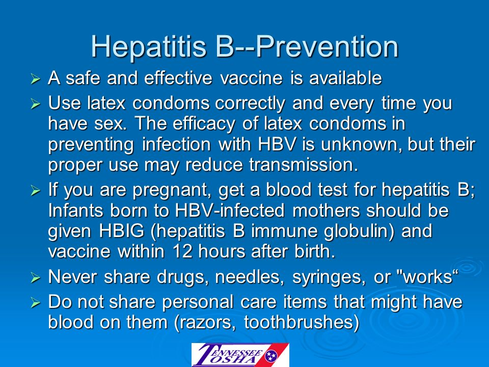 Hepatitis B--Prevention