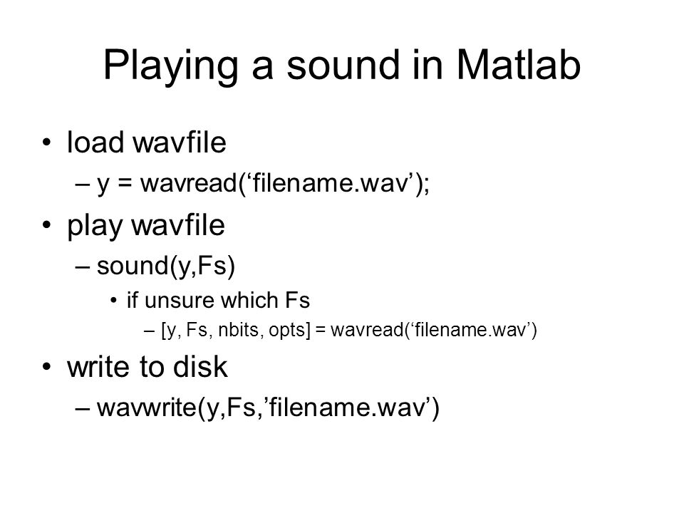 Playing a sound in Matlab