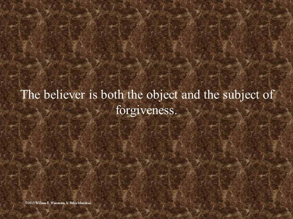 The believer is both the object and the subject of forgiveness.