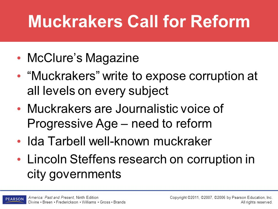 Muckrakers Call for Reform