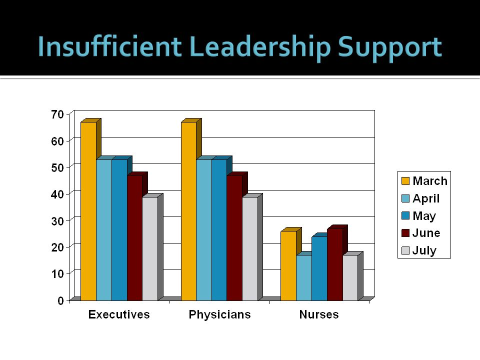 Insufficient Leadership Support