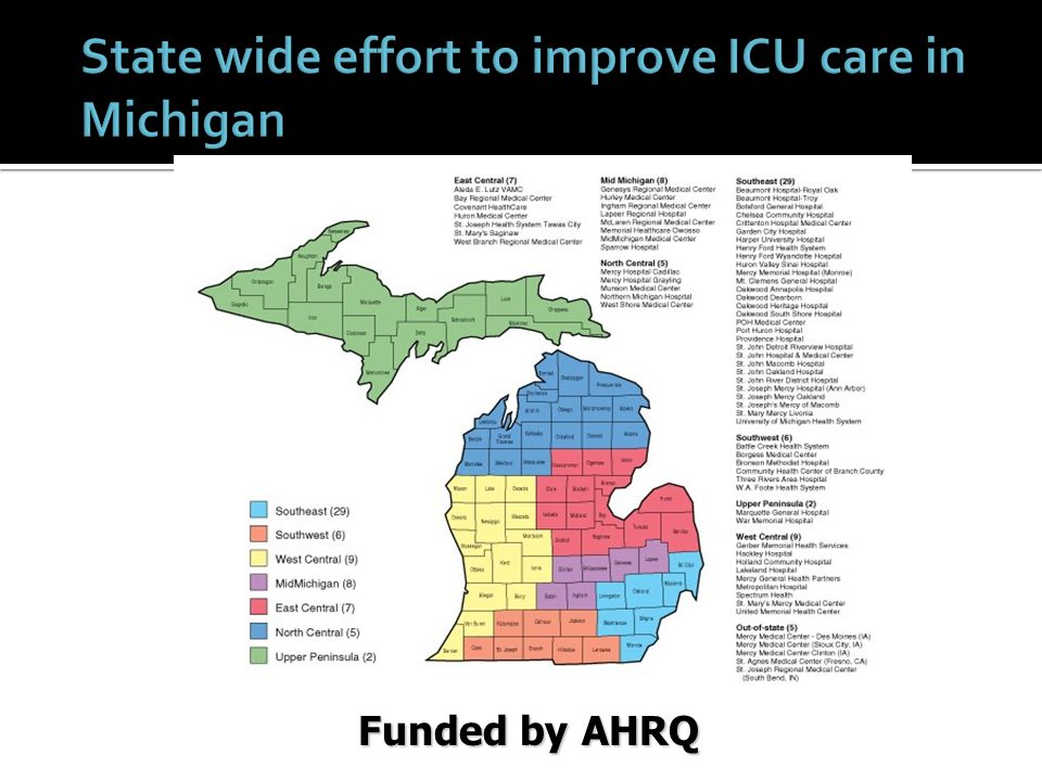 State wide effort to improve ICU care in Michigan