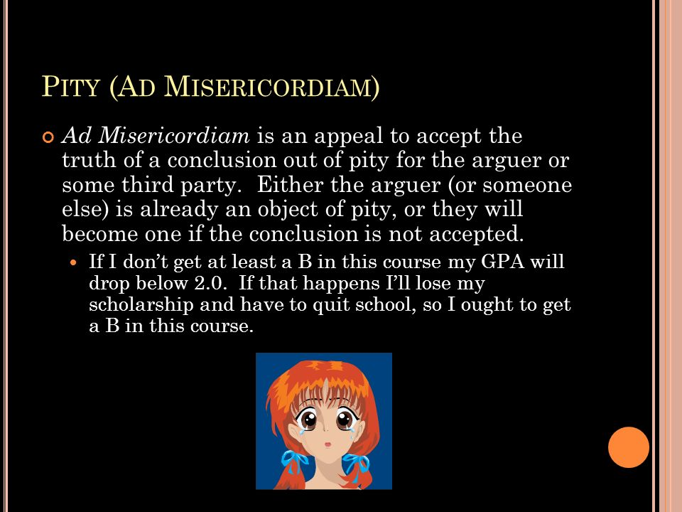 Pity (Ad Misericordiam)