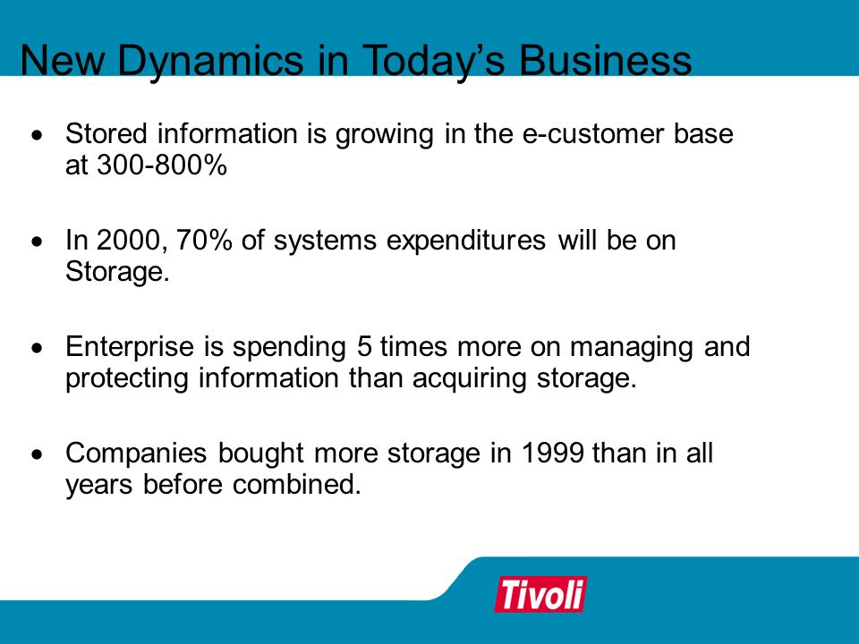 New Dynamics in Today's Business