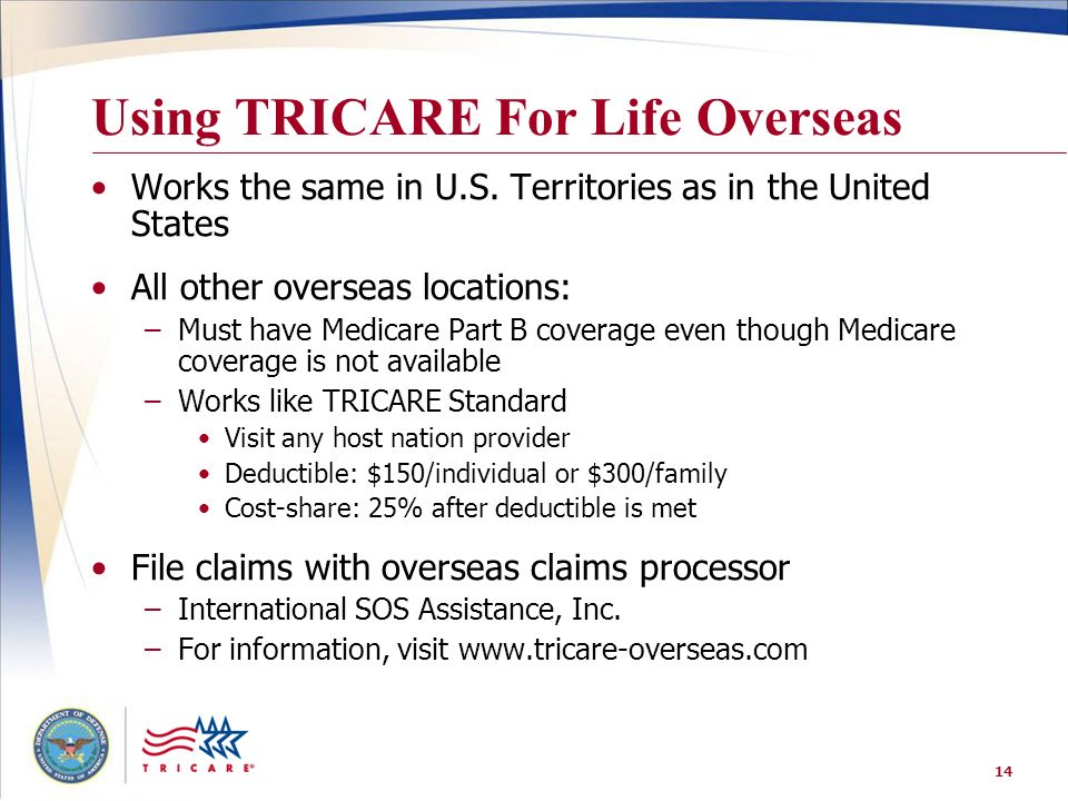 Using TRICARE For Life Overseas