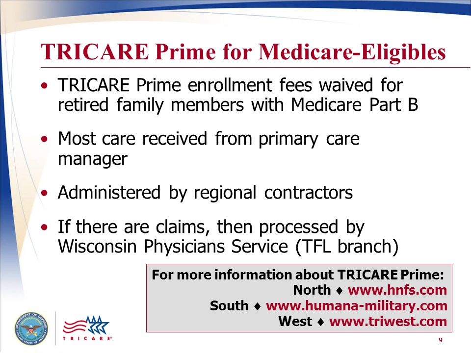 TRICARE Prime for Medicare-Eligibles