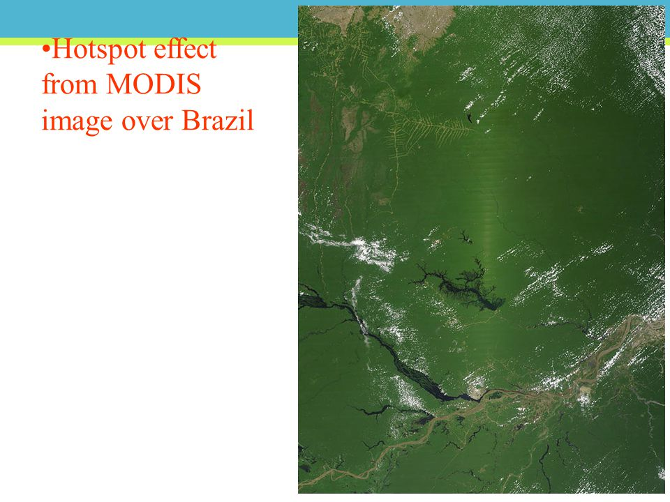Hotspot effect from MODIS image over Brazil