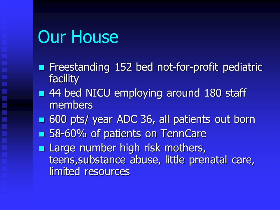 Our House Freestanding 152 bed not-for-profit pediatric facility