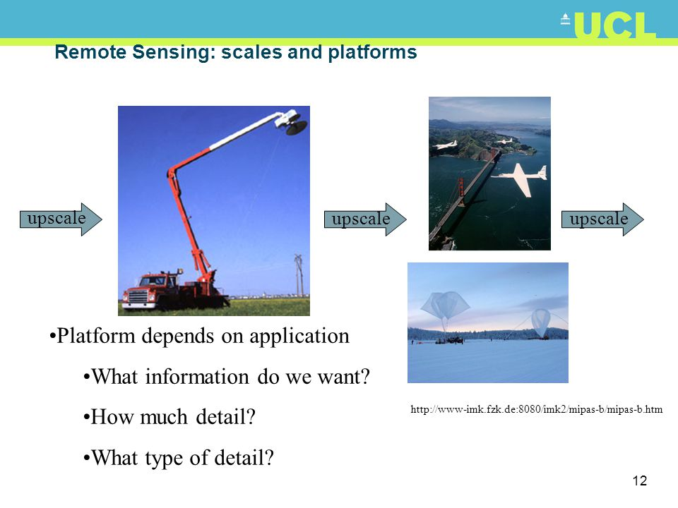 Remote Sensing: scales and platforms