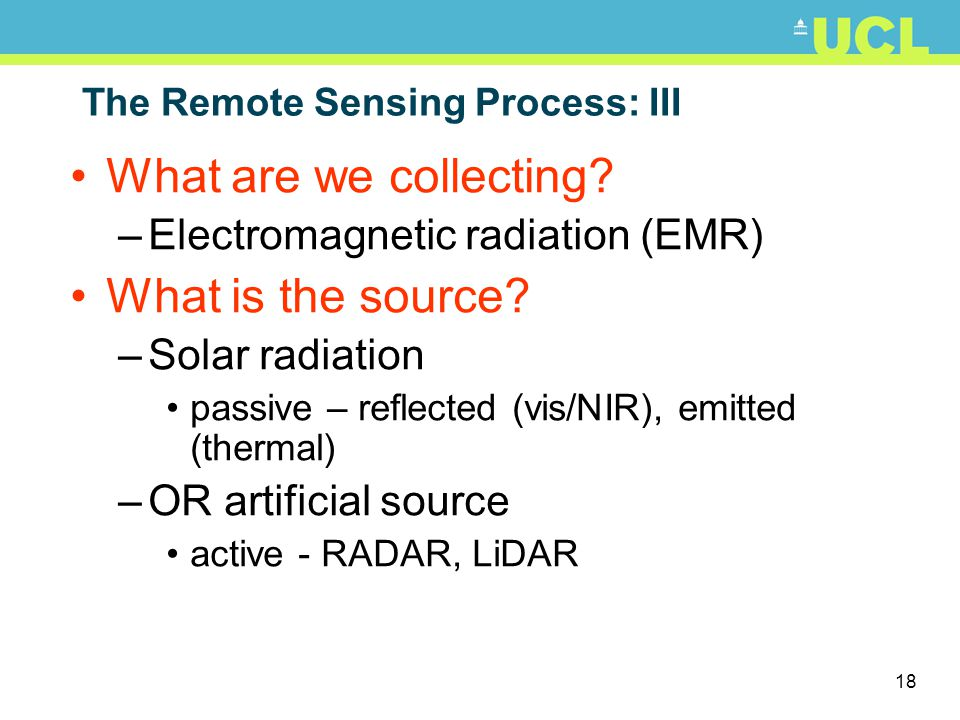 The Remote Sensing Process: III
