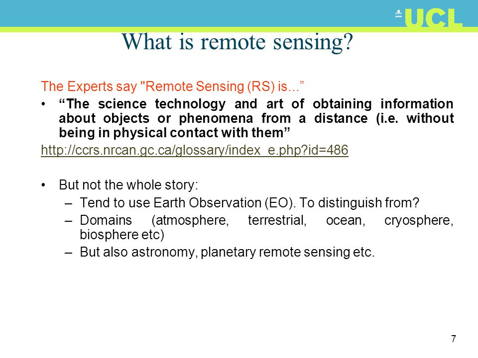 What is remote sensing The Experts say Remote Sensing (RS) is...